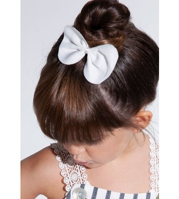 Abel & Lula hairclip with bow white