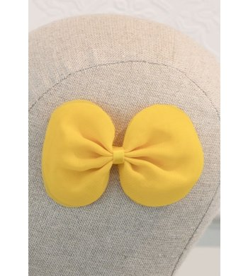Abel & Lula hairclip with bow yellow