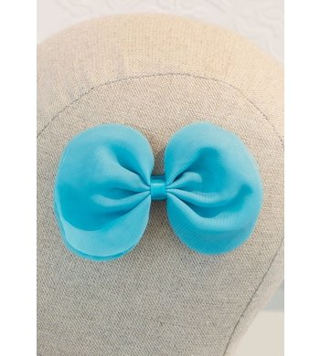 Abel & Lula hairclip with bow turquoise