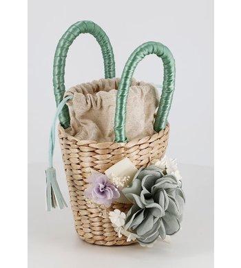 Abel & Lula bag with flowers blue