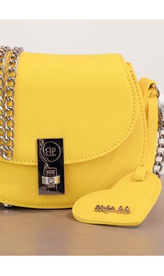 Abel & Lula bag with heart yellow
