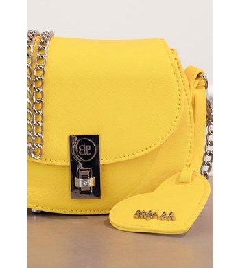 Abel & Lula tasje met hart label yellow