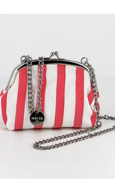 Abel & Lula bag striped red white