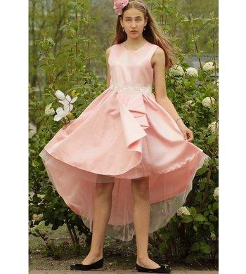 Bonnie Jean cascade party dress pink