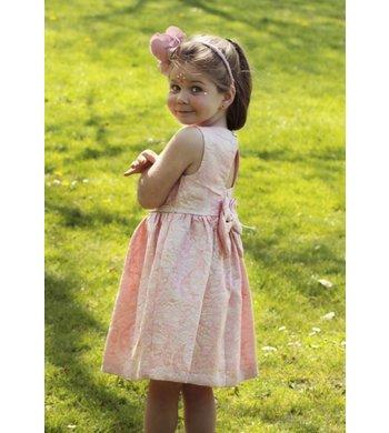 Bonnie Jean jaquard dress peach