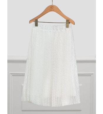 Abel & Lula geplisseerde rok van kant wit