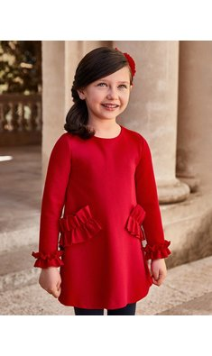 Abel & Lula dress knitted red