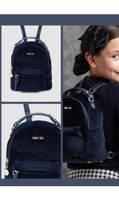 Abel & Lula velvet backpack navy