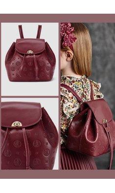 Abel & Lula backpack maroon red