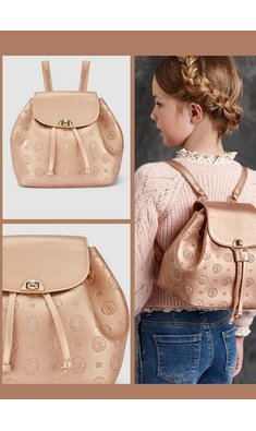 Abel & Lula backpack pink gold