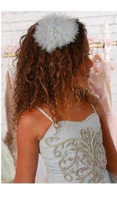 Ooh la la Couture haarspeld met tule bloem sky