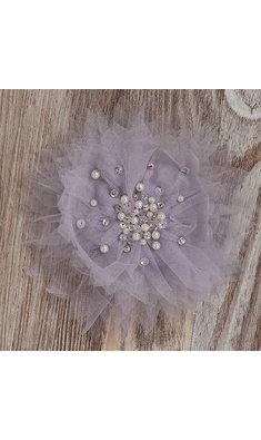 Ooh la la Couture tule flower clip lilac