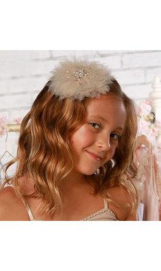 Ooh la la Couture haarspeld met tule bloem sand