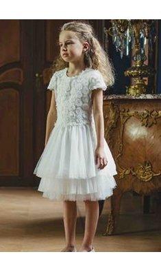 Gymp dress offwhite