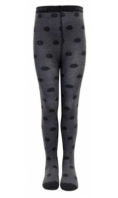 Melton tight with dots dark grey melange