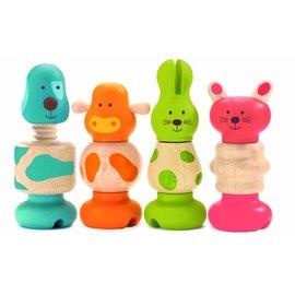 Djeco Djeco 4 houten schroefdieren
