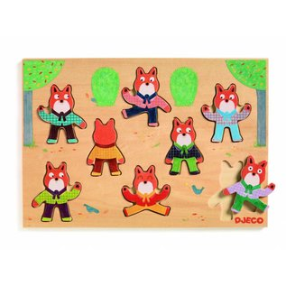 Djeco Djeco houten puzzel 'foxy match'