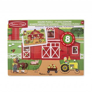 Melissa & Doug Melissa and Doug houten puzzel met geluid 'Op de boerderij'