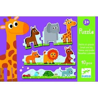Djeco Djeco puzzel kleine en grote dieren