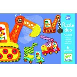 Djeco Djeco puzzel duo bouwverkeer
