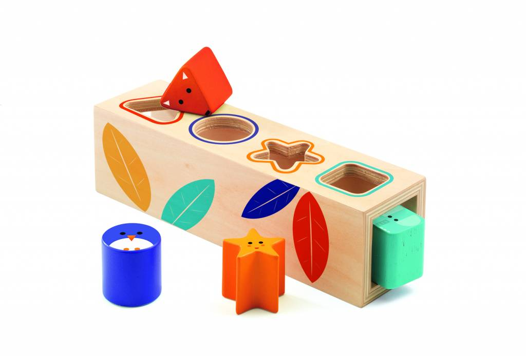 Djeco houten vormen doos de rode krokodil