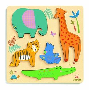 Djeco Djeco houten puzzel jungledieren