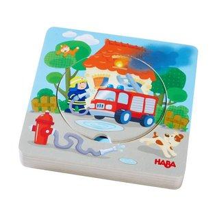 Haba Haba houten 3D puzzel 'Brandweeractie'