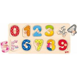 Goki Goki houten puzzel getallen