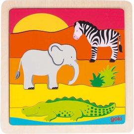 Goki Goki houten puzzel Afrika