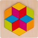 Goki Goki houten mozaïek puzzel Diamant