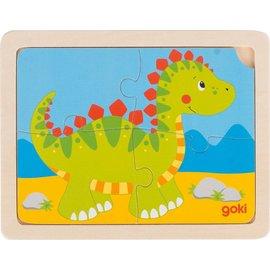 Goki Goki houten puzzel Dinosaurus