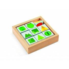 Djeco Djeco houten omkeerspel tribasic