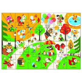 Djeco Djeco puzzel  Het plein