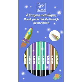 Djeco Djeco set van 8 metallic kleurpotloden