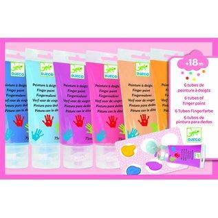 Djeco Djeco set van 6 tubes vingerverf pastelkleuren