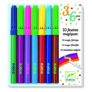 Djeco Djeco set van 10 magische viltstiften