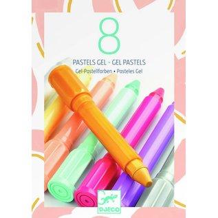 Djeco Djeco set van 8 gel stiften zacht pastel