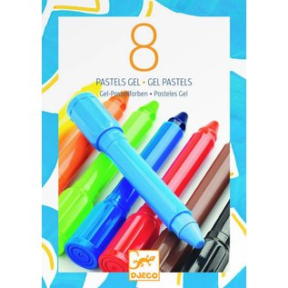 Djeco Djeco set van 8 gel stiften klassiek pastel