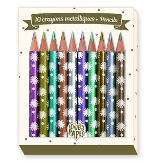 Djeco Djeco set van 10 mini metallic kleurpotloden Chichi