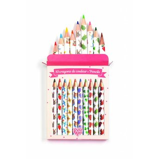 Djeco Djeco set van 10 mini kleurpotloden Aiko