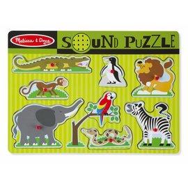 Melissa & Doug Melissa and Doug houten puzzel dierentuindieren met geluid