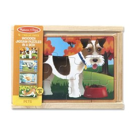 Melissa & Doug Melissa and Doug 4 huisdieren puzzels in een doos