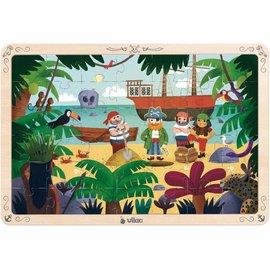 Vilac Vilac houten puzzel 'Piraten' (42 st.)