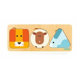 Djeco Djeco houten puzzel AnimaBasic