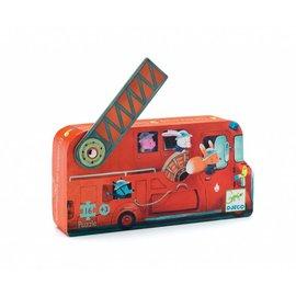 Djeco Djeco puzzel De brandweerauto