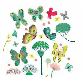 Djeco Djeco raamstickers Vlinders in de tuin