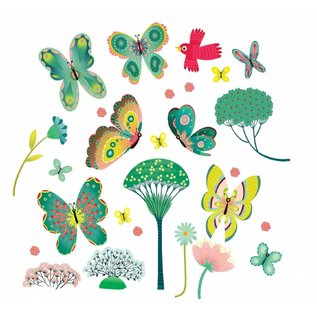 Djeco Djeco raamstickers Vlinders in de tuin DD05051