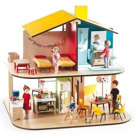 Djeco Djeco modern poppenhuis 'Kleuren'