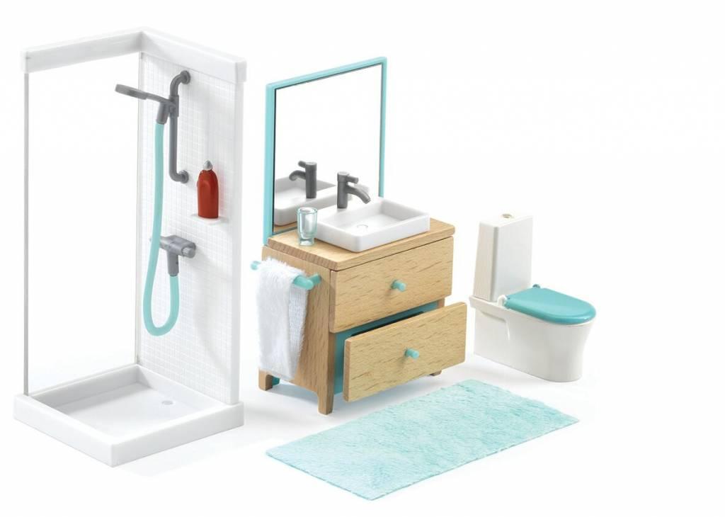 Badkamer Voor Poppenhuis : Djeco poppenhuis inrichting badkamer dj de rode krokodil