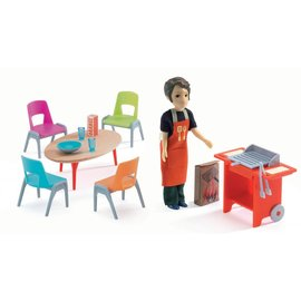 Djeco Djeco poppenhuis inrichting Barbecue & accessoires